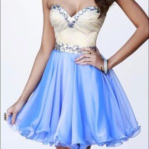 Periwinkle Sherri Hill short dress